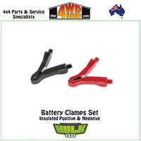 Battery Clamps Set - Insulated Positive & Negative