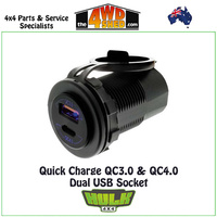 Quick Charge QC3.0 QC4.0 Dual USB Socket