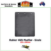 Rubber 4WD Mudflap - Single