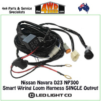 Single Output Wiring Loom Harness Nissan Navara D23 NP300