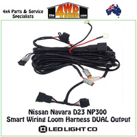 Dual Output Wiring Loom Harness Nissan Navara D23 NP300