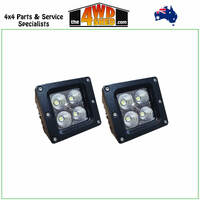 20 Watt Flood Beam Dually Style Square Housing LED Work Lights
