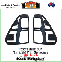 Light Surround Trims for Tail Lights - Toyota Hilux 2015-Onwards