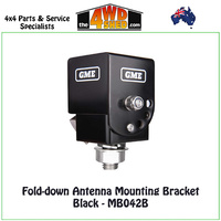 GME Fold-down Antenna Mounting Bracket Black