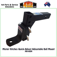 Mister Hitches Quick Adjust Adjustable Ball Mount