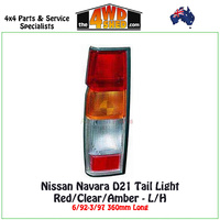 Nissan Navara D21 Tail Light Red/Clear/Amber - L/H