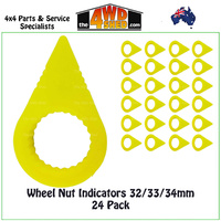 Wheel Nut Indicators 32/33/34mm - 24 Pieces