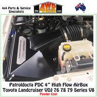 "High Flow 4"" AirBox Toyota Landcruiser VDJ 76 78 79 Series V8"