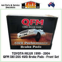 Toyota Hilux 1999-2004 Front Brake Pads QFM DB1205 4WD