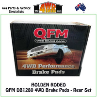 Holden Rodeo Rear Brake Pads - QFM DB1280 4WD