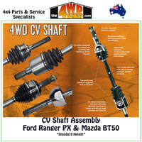 CV Shaft Assembly Ford Ranger PX & Mazda BT50 09/11-On Standard Height - Right