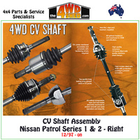 CV Shaft Assembly Nissan Patrol GU Series 1 & 2 - Right