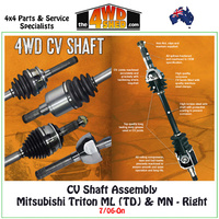 CV Shaft Assembly Mitsubishi Triton ML MN - Right