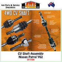 CV Shaft Assembly Nissan Patrol Y62 2013-On - Rear