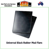 Universal Black Rubber Mud Flaps