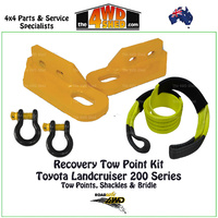 Recovery Tow Points, Shackles & Equaliser Strap Kit -Toyota 200 Series Landcruiser