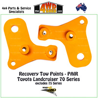 Recovery Tow Points PAIR Toyota 76 78 79 Series Landcruiser Standard Length