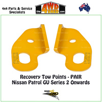 Recovery Tow Points PAIR - Nissan Patrol GU Y61 Series 2 Onwards