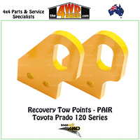 Recovery Tow Points PAIR Toyota Prado 120 Series
