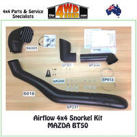 Airflow 4x4 Snorkel - Mazda BT50 08/2011 - Onwards
