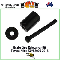 Brake Line Relocation Kit Toyota Hilux KUN 2005-2015