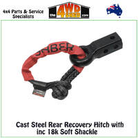 Cast Steel Rear Recovery Hitch with 14,700kg Soft Shackle