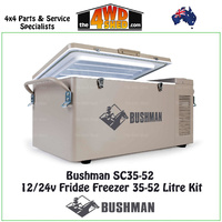 Bushman 12/24v Fridge Freezer 35-52 Litre Kit