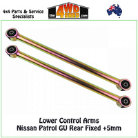 Lower Control Arms Nissan Patrol GU Rear Fixed +5mm