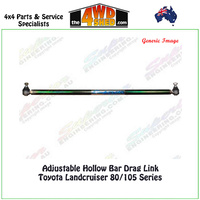Adjustable Hollow Bar Drag Link Toyota Landcruiser 80/105 Series