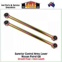 Lower Control Arms Nissan Patrol GQ Straight Fixed +10mm Length