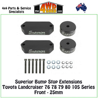 Bump Stop Extensions Toyota Landcruiser 76 78 79 80 105 Series Front