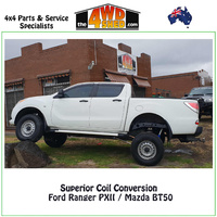 "Coil Conversion 2"" Lift Ford Ranger PXII & Mazda BT50"