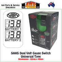 SAAS Dual Volt Digital Switch Gauge Universal SG81514