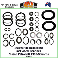 Swivel Hub & Wheel Bearing Rebuild Kit Nissan GU 1997-Onwards