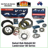 Swivel Hub Rebuild & Wheel Bearing Kit - Landcruiser 80 Series