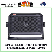 GME 4 Ohm UHF Radio Extension Speaker, Lead & Plug