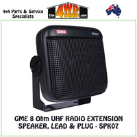 GME 8 Ohm UHF DUST / WATER EXTENSION SPEAKER, LEAD & PLUG - SPK07