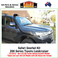 Safari Snorkel Toyota Landcruiser 200 Series 10/2015-On