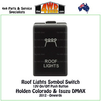Roof Lights Symbol Switch 12V - Holden Colorado & Isuzu DMAX 2012 - Onwards