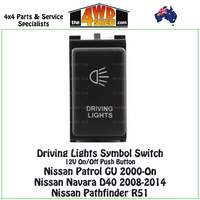 Driving Lights Switch 12V Nissan Patrol GU Navara D40 Pathfinder R51