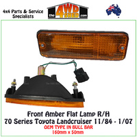 70 75 78 79 Series Landcruiser Amber Front Bar Lamp - R/H