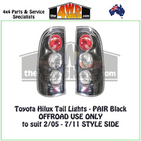 Toyota Hilux Tail Lights - PAIR Black OFFROAD