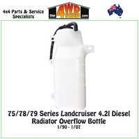75 / 78/ 79 Series Landcruiser 4.2l Diesel Radiator Overflow Bottle