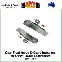 Landcruiser 80 Series Front Apron & Guard Indicator Package - CLEAR PAIR