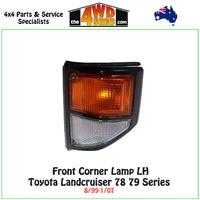 Landcruiser 78/79 Series - Front Corner Lamp L/H BLACK