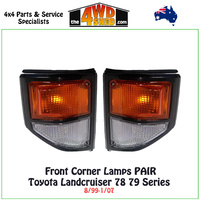Landcruiser 78/79 Series - Front Corner Lamp PAIR BLACK