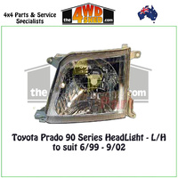 Prado 90 Series HeadLight - L/H