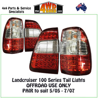 Landcruiser 100 Series Tail Light - Pair OFFROAD USE