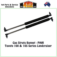 Bonnet Gas Struts Toyota 100 & 105 Series Landcruiser (Pair)
