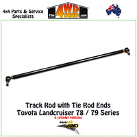 Track Rod with Tie Rod Ends - Toyota Landcruiser 78 & 79 Series 6cyl